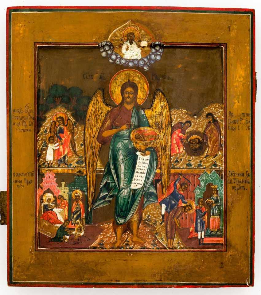 Hl. Saint John the forerunner with Vita scenes - photo 1