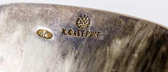 Faberge flatware with monogram, in Original case, silver (614g), St Petersburg 1896-1908 - photo 2