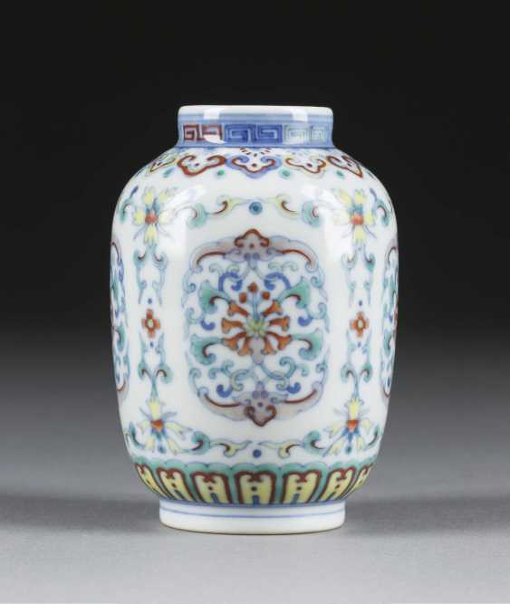 SMALL VASE WITH FLORAL DECOR - photo 1