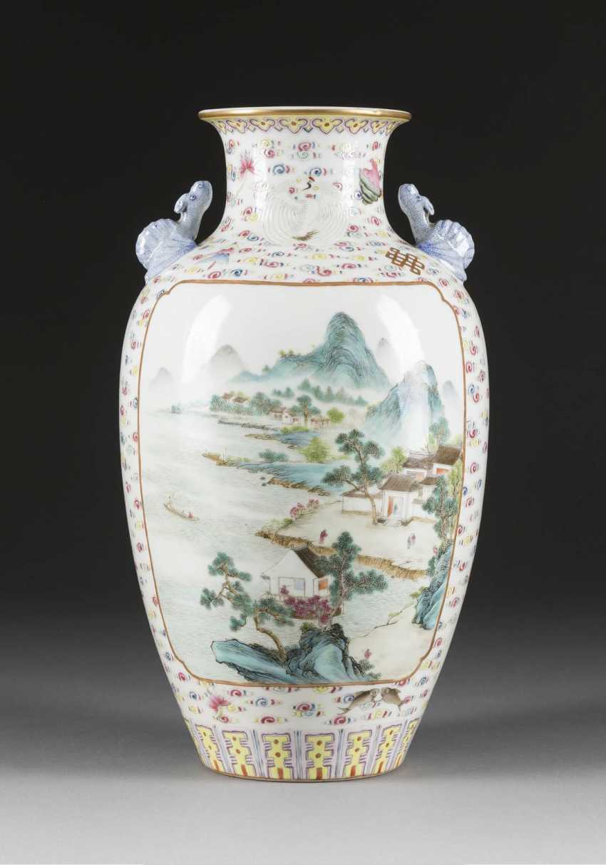 VASE WITH FIGURAL AND LANDSCAPE SCENES - photo 1