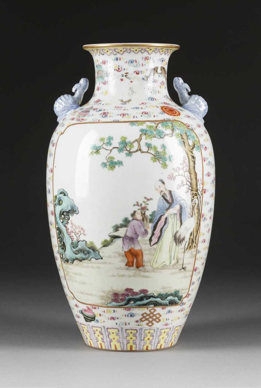 VASE WITH FIGURAL AND LANDSCAPE SCENES - photo 2
