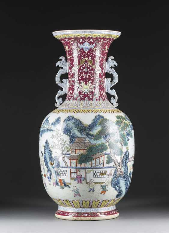 LARGE FLOOR VASE WITH EXTENSIVE DECORATION - photo 2