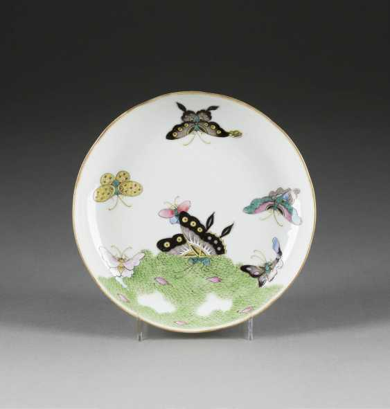 FINE BOWL WITH BUTTERFLIES IN THE MIRROR - photo 1