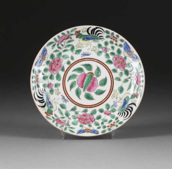 BOWL WITH PEACH DECORATION IN THE MIRROR - photo 1