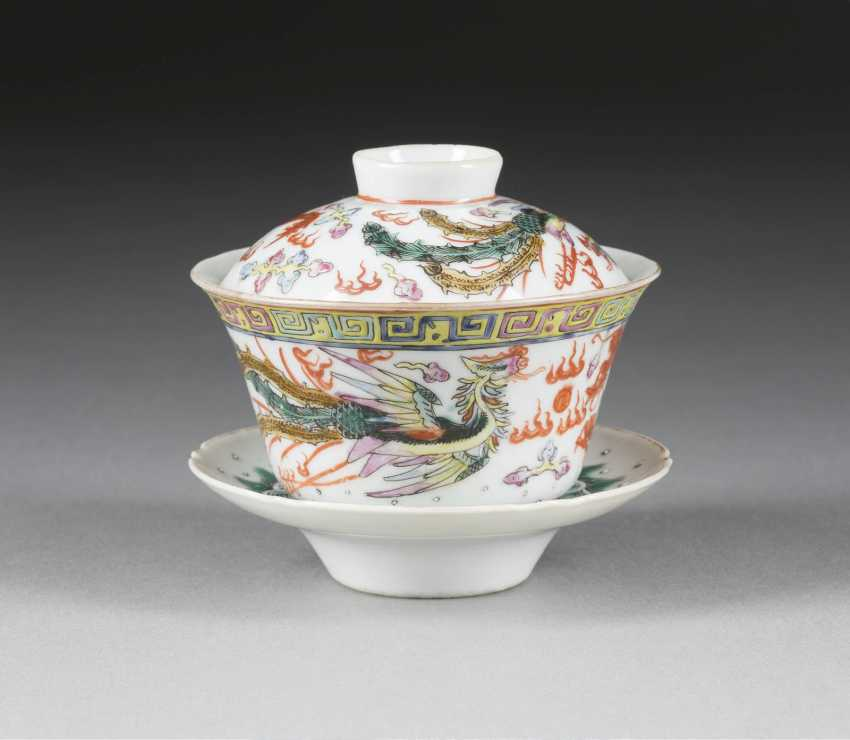 TEA CUP WITH LID AND UNDER TRAY - photo 1