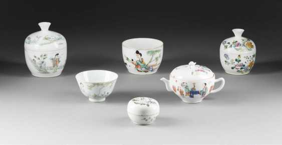 SIX-PIECE COLLECTION OF PORCELAIN - photo 1