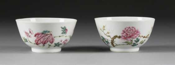 PAIR OF TEA CUPS WITH FLORAL DECOR - photo 1