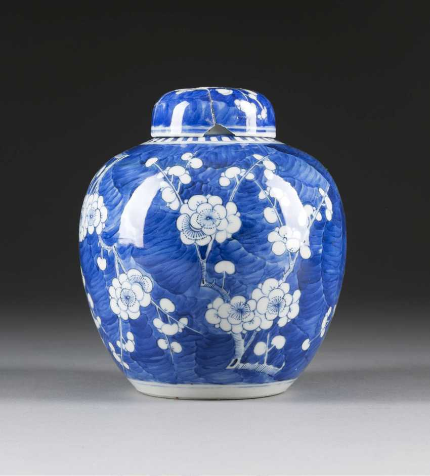 GINGER POT WITH DECORATION OF CHERRY BLOSSOMS - photo 1
