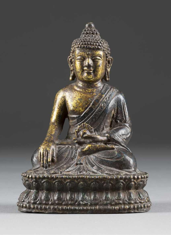 BUDDHA SAKYAMUNI ON DOUBLE LUTUS - photo 1