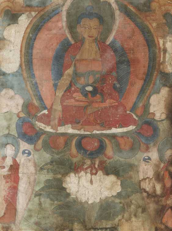 TWO THANGKAS OF THE BUDDHA DEPICTIONS - photo 2
