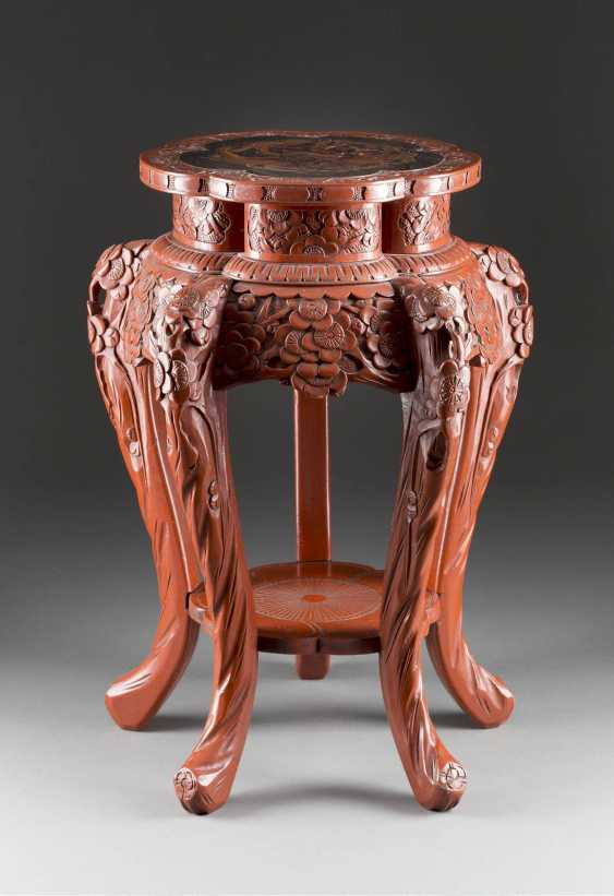 SMALL SIDE TABLE WITH DECOR OF A PHOENIX - photo 1