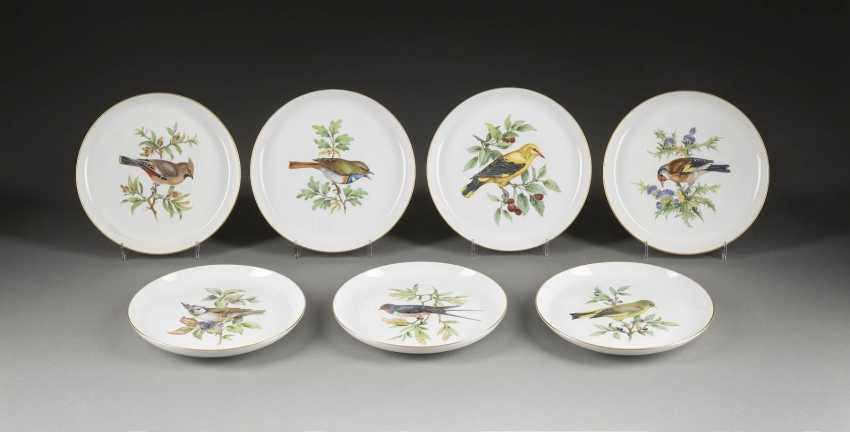 SEVEN WALL PLATE 'BIRD PAINTING' - photo 1