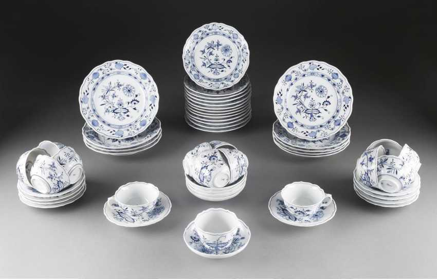37-PIECE REST SERVICE COFFEE AND TEA 'ONION PATTERN' - photo 1