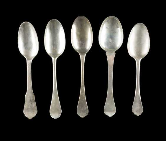 COLLECTION OF FIVE BAROQUE SPOONS - photo 1