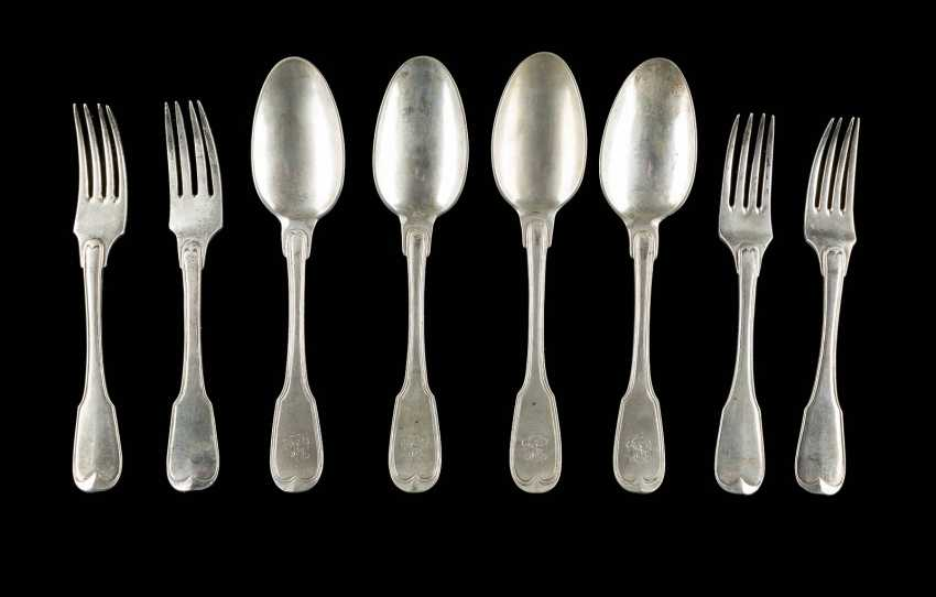 FOUR FORKS AND FOUR SPOONS - photo 1