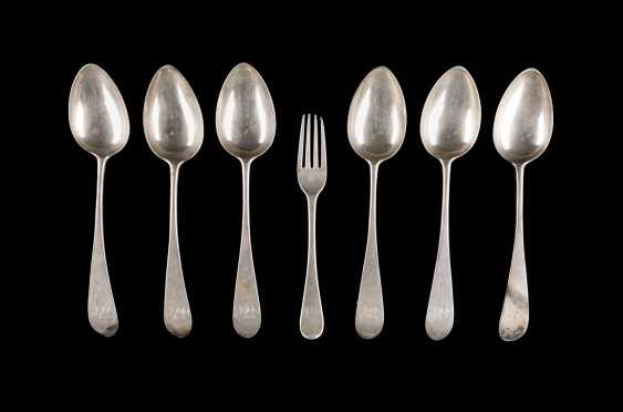 SIX ENGLISH SPOON AND A FORK - photo 1