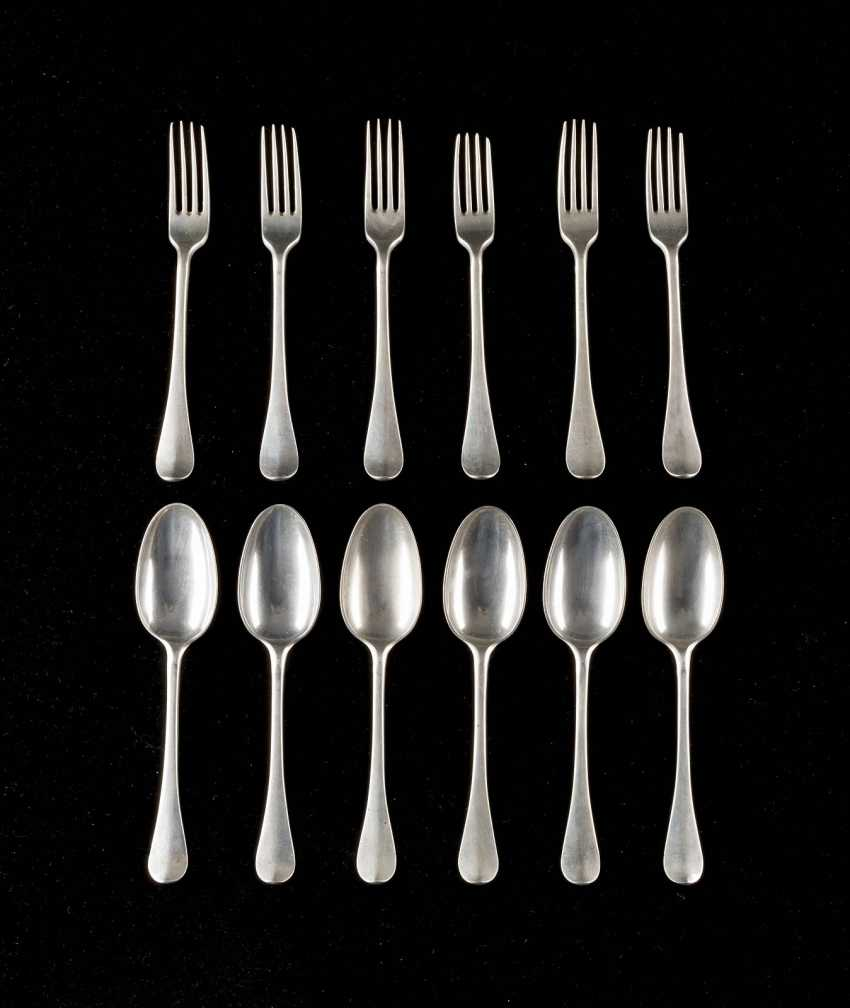 SIX SPOONS AND SIX FORKS - photo 1