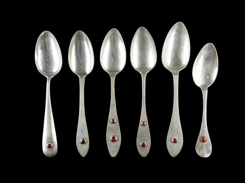 SIX NORTH-GERMAN DINING SPOON - photo 1