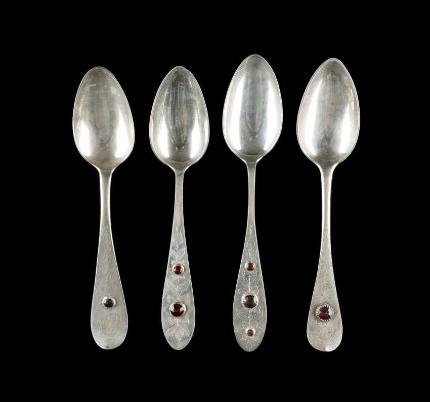 COLLECTION OF FOUR NORTHERN GERMAN SPOONS - photo 1
