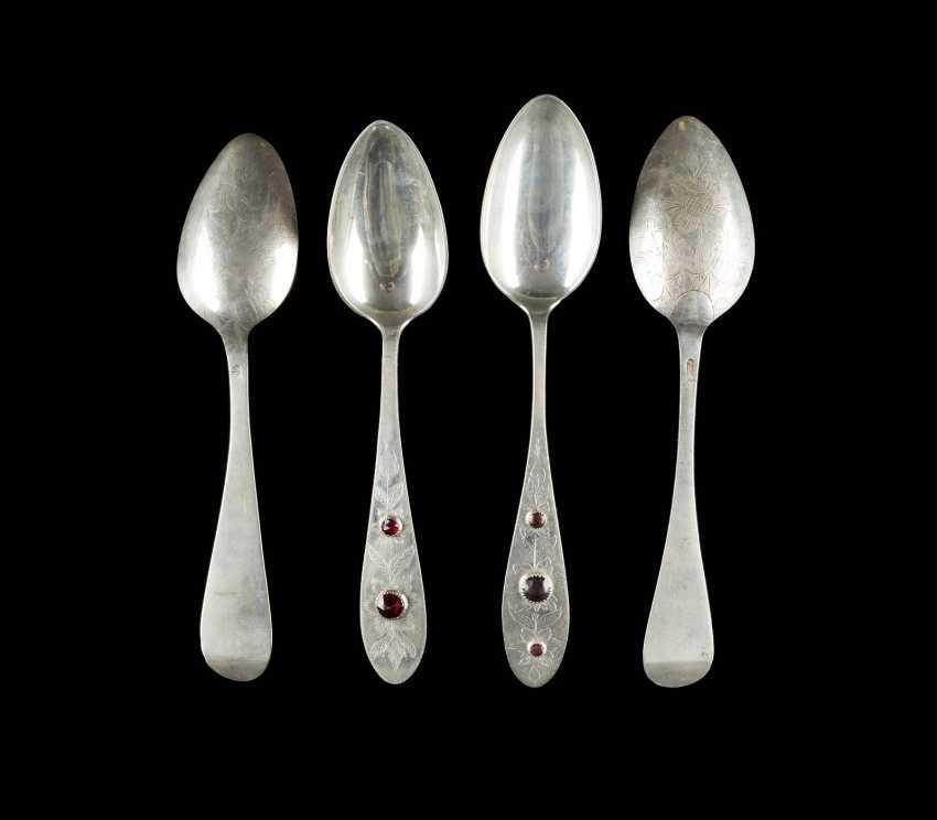 COLLECTION OF FOUR NORTHERN GERMAN SPOONS - photo 2