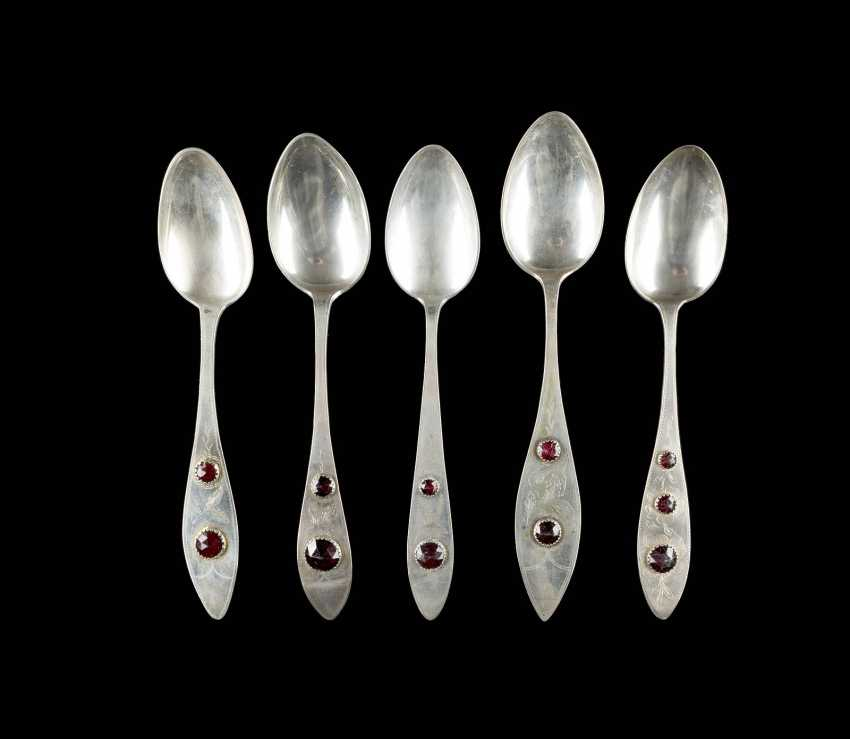 COLLECTION OF FIVE NORTHERN GERMAN SPOONS - photo 1
