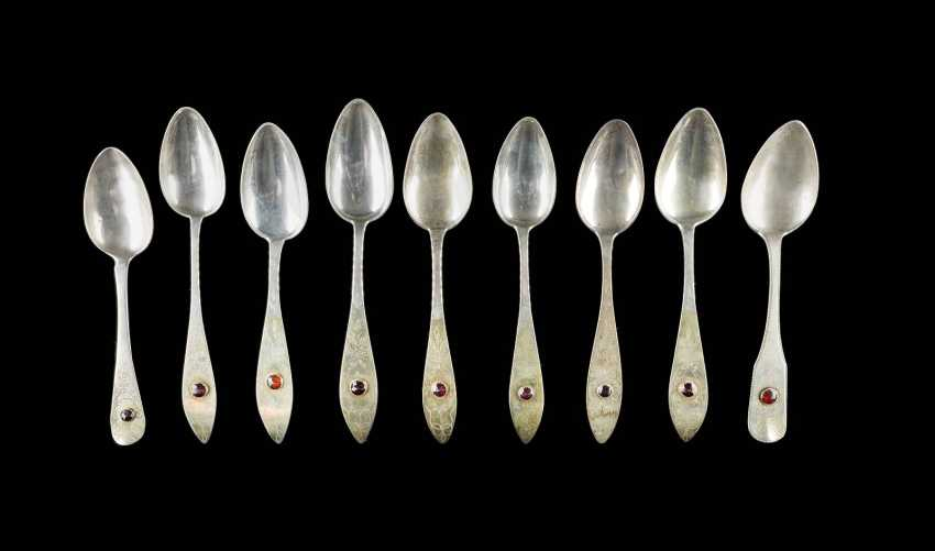 COLLECTION OF NINE NORTHERN GERMAN SPOONS - photo 1