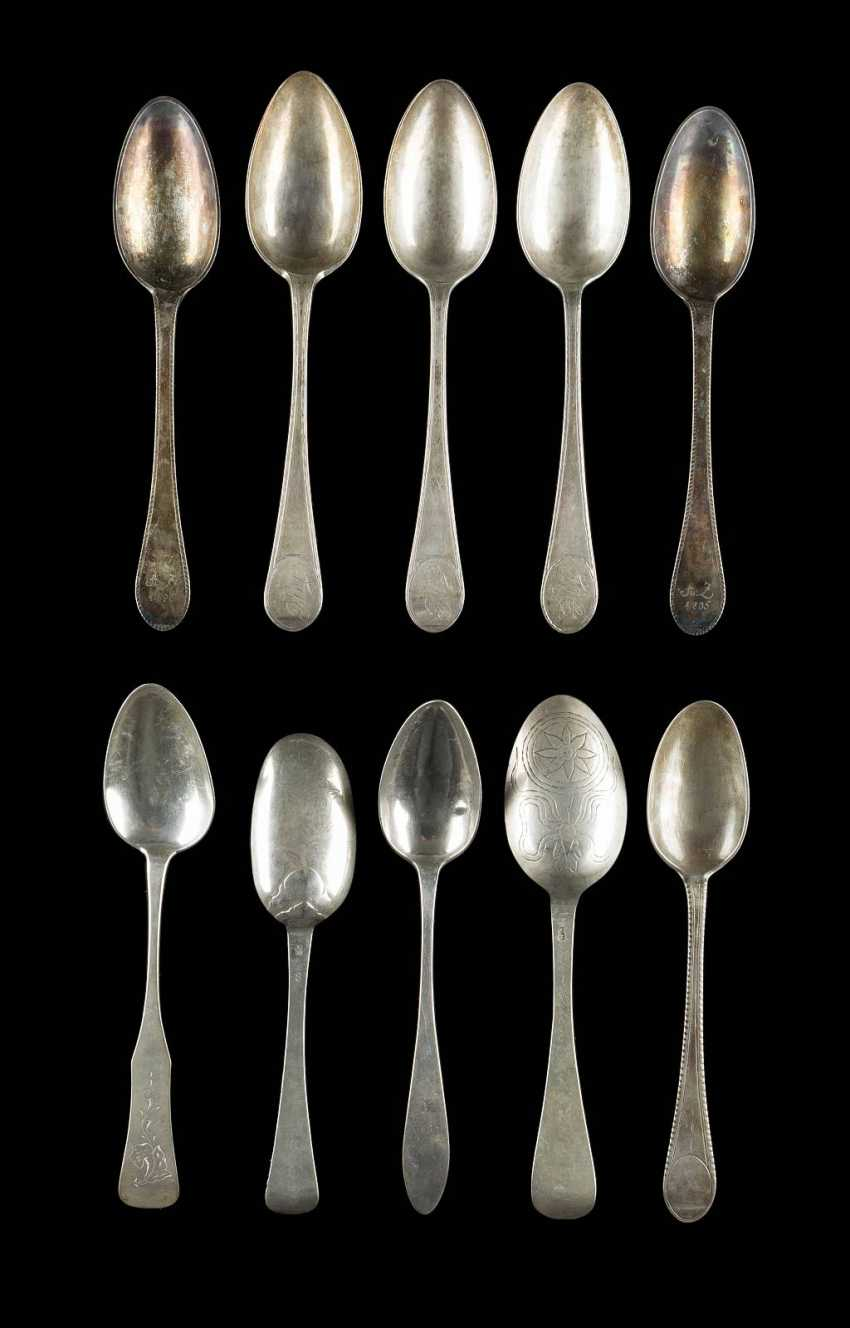 COLLECTION OF TEN DINING SPOONS - photo 1