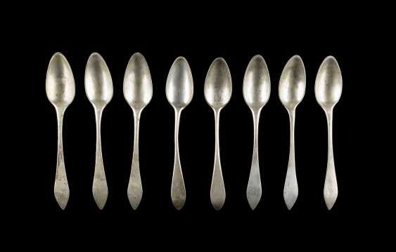 COLLECTION OF EIGHT NEO-CLASSICAL TEASPOONS - photo 1