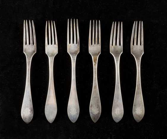 SIX NORTH GERMAN BIEDERMEIER DINING FORKS - photo 1