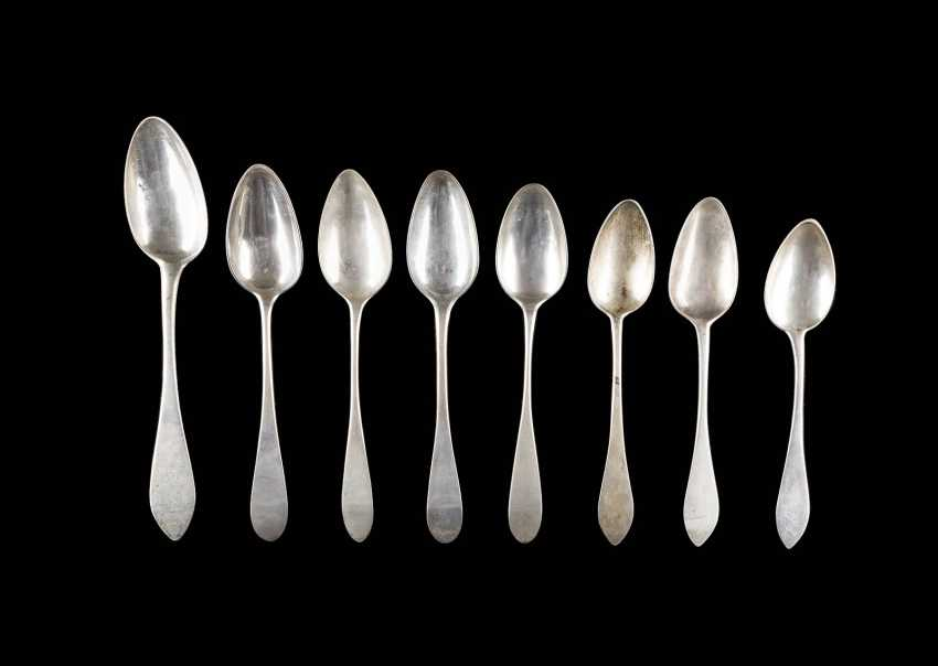 COLLECTION OF EIGHT SPOONS - photo 1