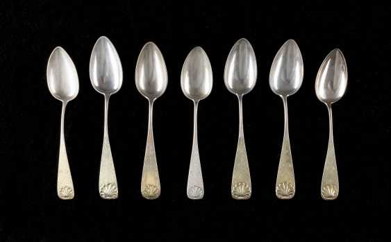 SEVEN NORTH GERMAN BIEDERMEIER SPOON - photo 1