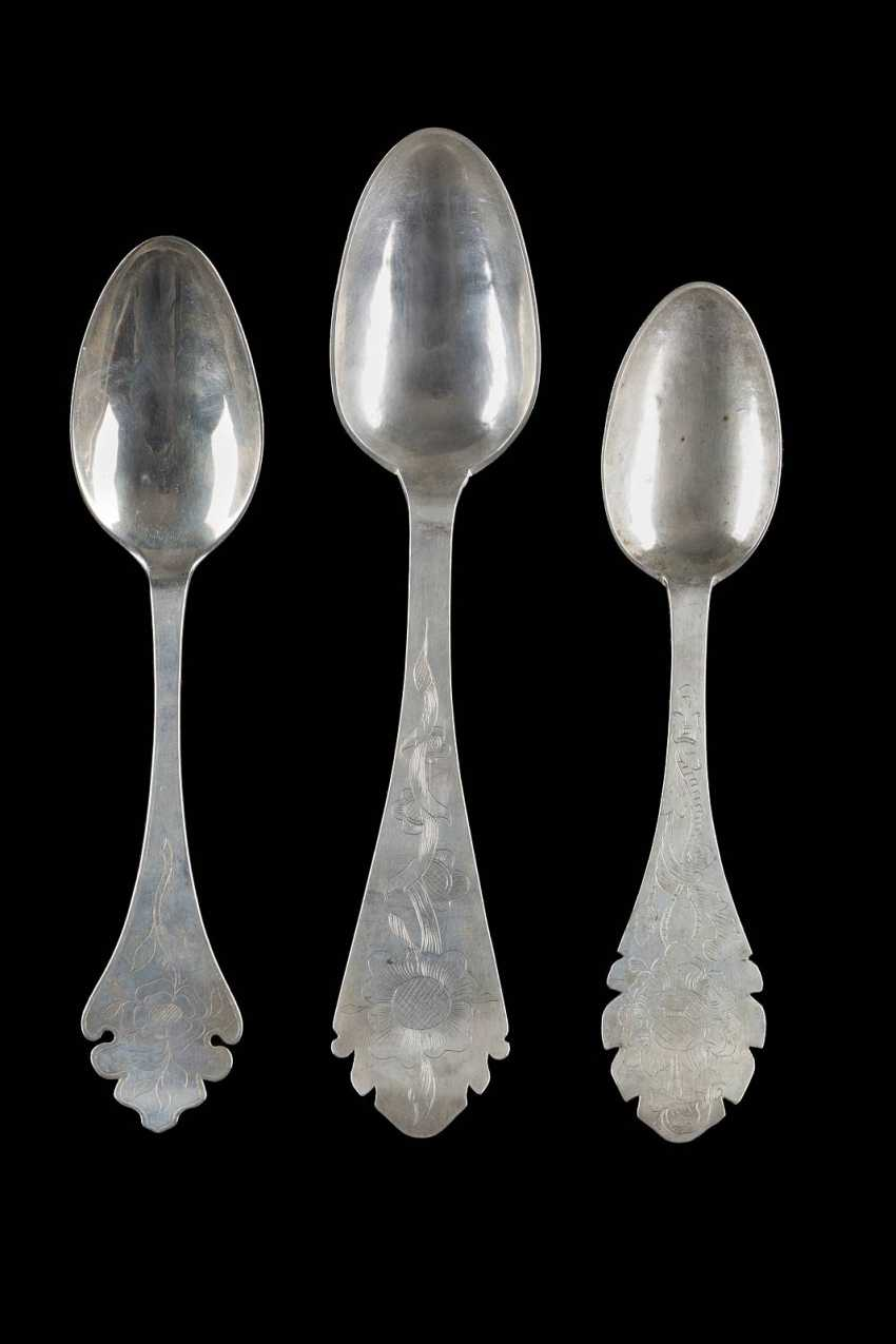COLLECTION OF THREE NORTHERN GERMAN SPOONS - photo 1