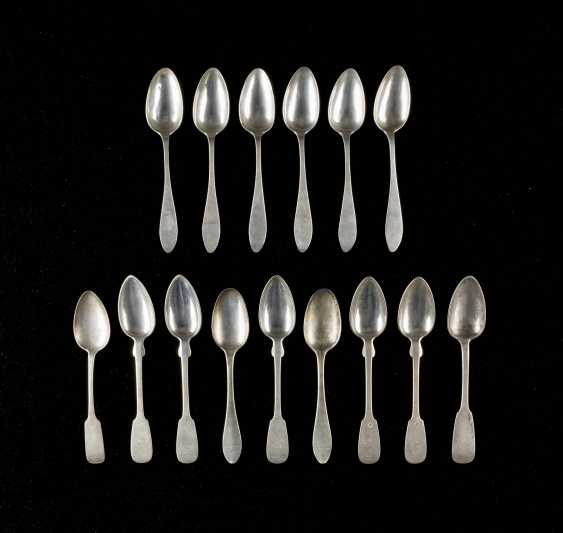 COLLECTION OF FIFTEEN East Prussian SPOONS - photo 1