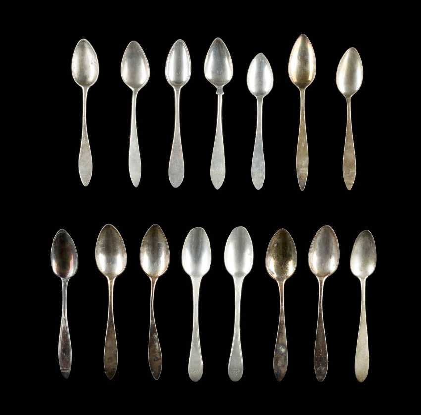 COLLECTION OF FIVE, TEN COFFEE SPOONS - photo 1