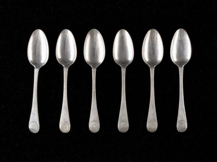 SIX NEOCLASSICAL DINING SPOON - photo 1