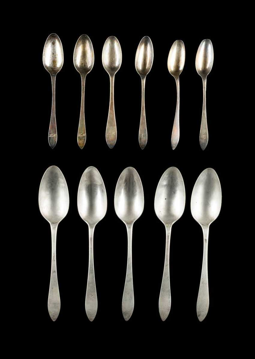 FIVE OF NUREMBERG, DINING, AND SIX COFFEE SPOONS - photo 1