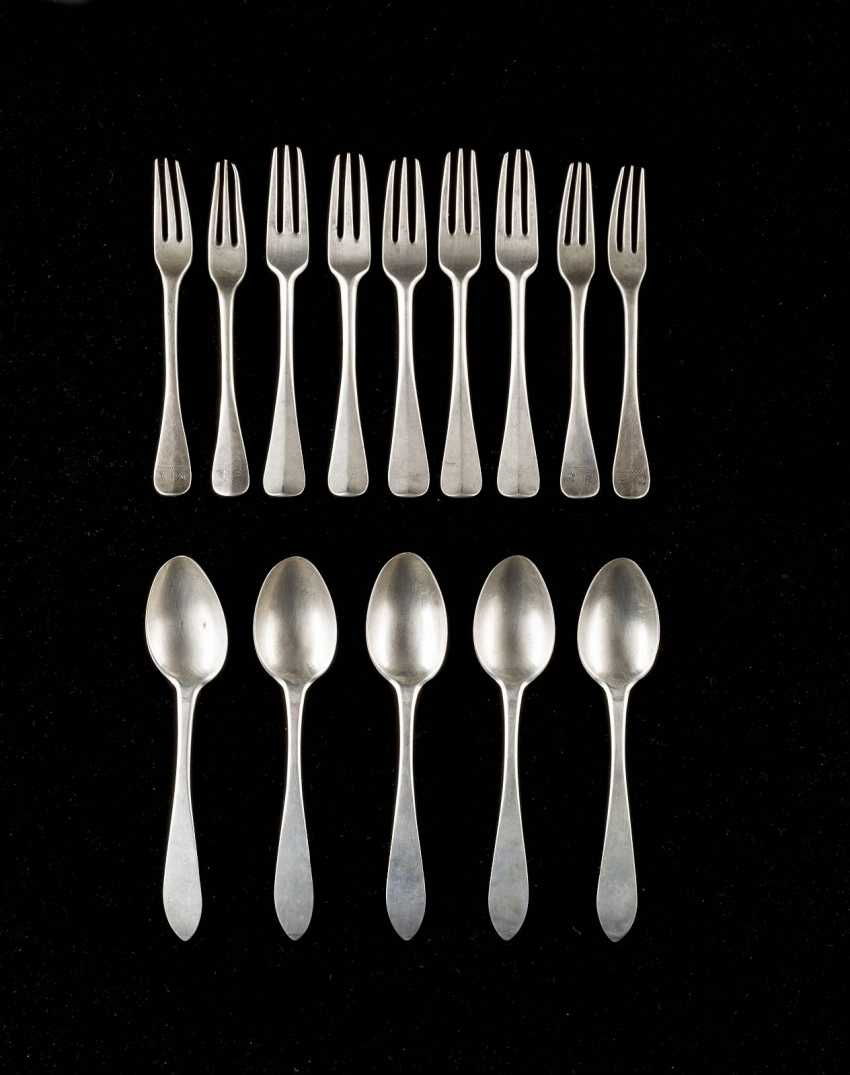 NINE BAROQUE FORKS AND FIVE SPOONS - photo 1