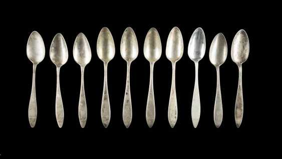 COLLECTION OF TEN SPOONS - photo 1