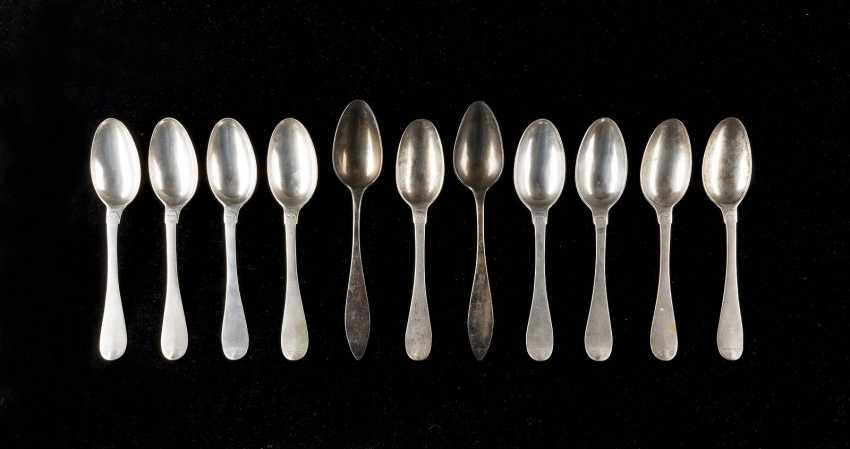 COLLECTION OF ELEVEN SAXON DINING SPOONS - photo 1