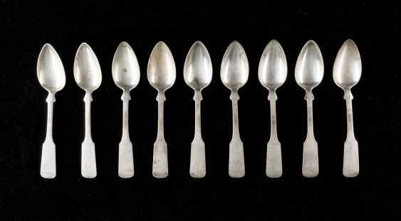 NINE DINING SPOON WITH ENGRAVED MONOGRAM - photo 1