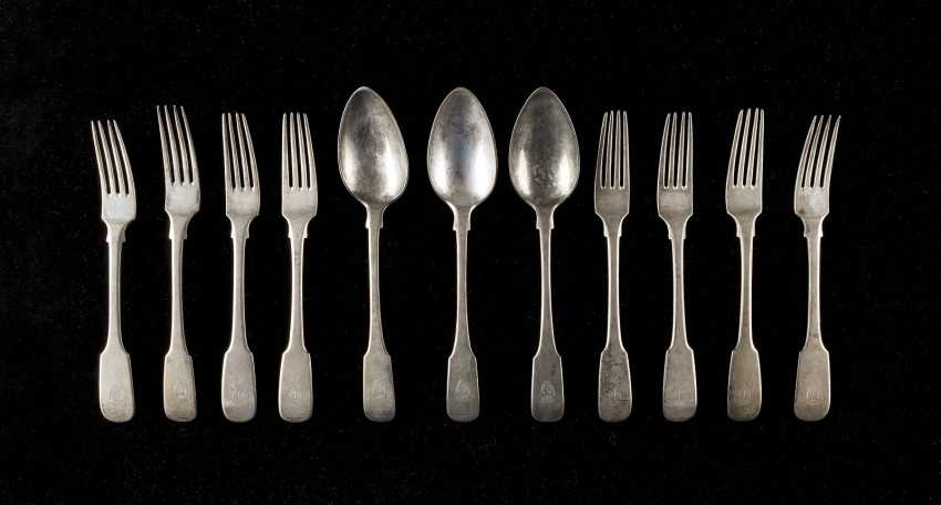 EIGHT FORKS AND THREE SPOONS - photo 1