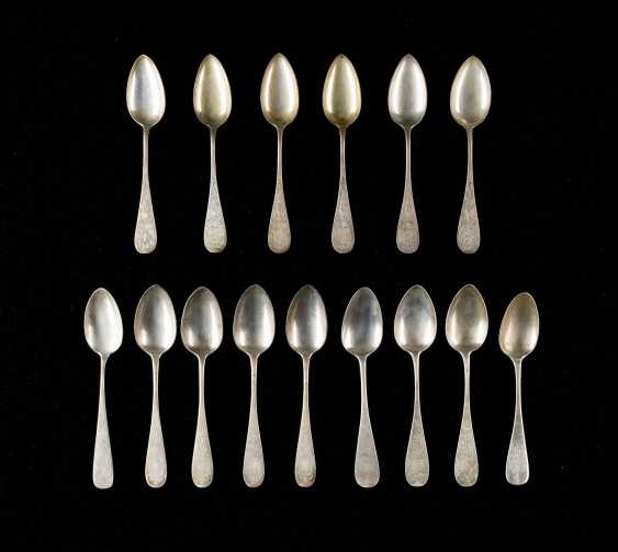 COLLECTION OF FIVE TEN DINING SPOONS - photo 1