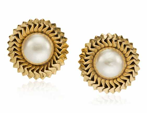 UNSIGNED CHANEL FAUX PEARL EARRINGS - photo 1