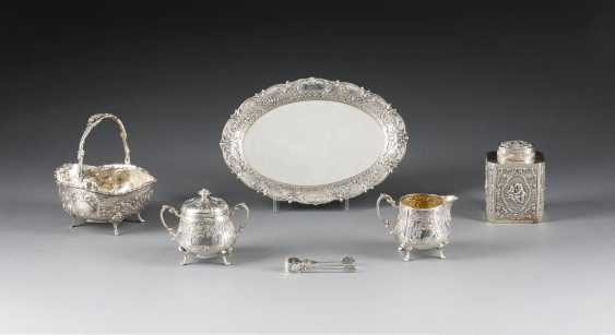 LOT OF SIX SMALL SILVER OBJECTS IN THE ROCOCO STYLE - photo 1