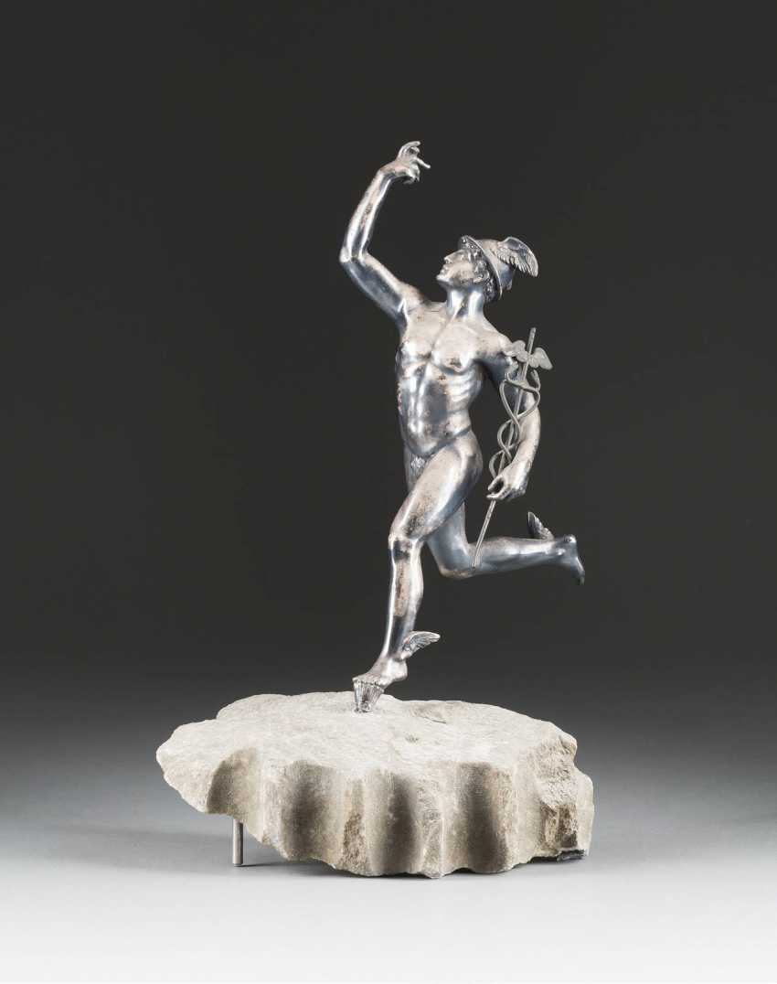 LARGE DECORATIVE FIGURE OF THE GODS, MERCURY, THE MESSENGER OF - photo 1
