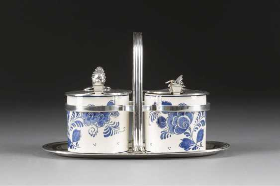 JAMS AND HONEY POT WITH SILVER MOUNTS - photo 1