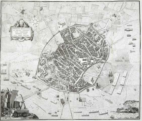 FUMAGALLI, Angelo (1728-1804) - Le vicende di Milano durante la guerra con Federigo I Imperadore. Milan: Antonio Agnelli, 1778.  - photo 1
