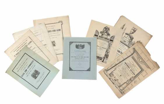 [FUNERALIA] - Sammlung von hundert Ankündigungen und Leichenbestattungen. United Lombardo Veneto: Mitte des 19. Jahrhunderts. - Foto 2