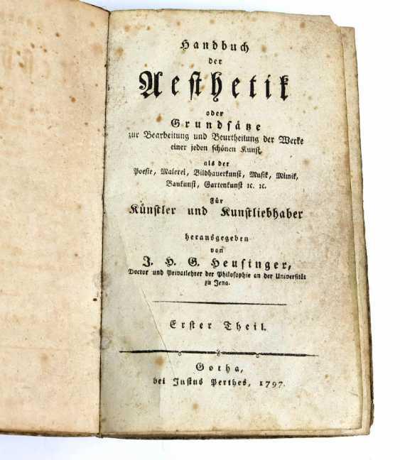 Handbook of Aesthetics Gotha 1797 - photo 1