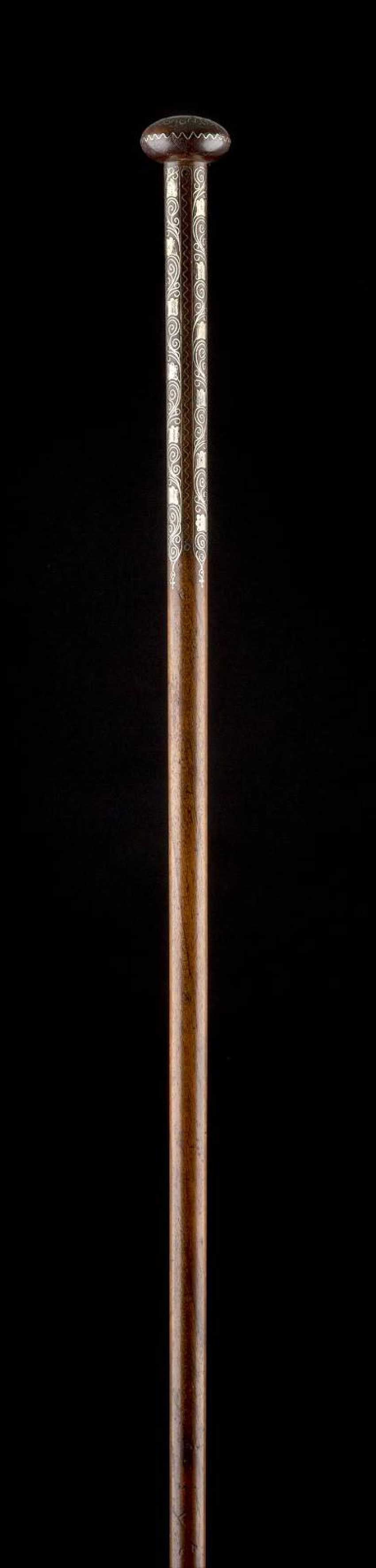 WALKING STICK WITH ARABIC CALLIGRAPHY - photo 1